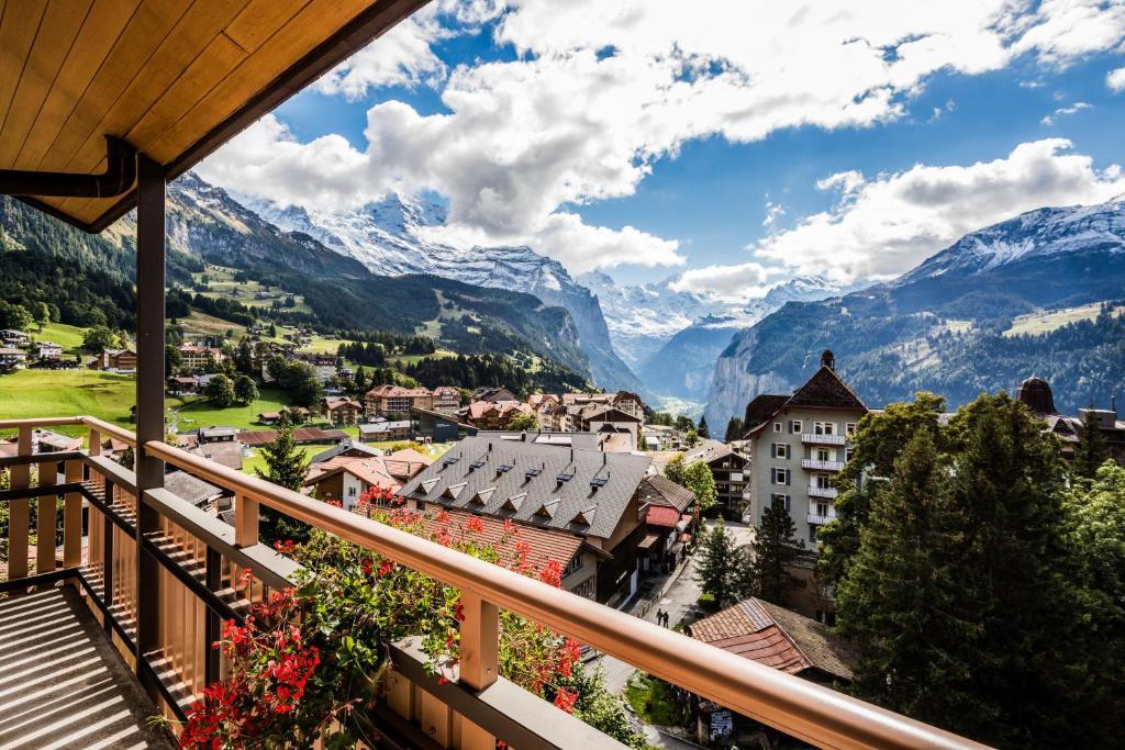 Hotel jungfraublick - wengen - швейцария.
