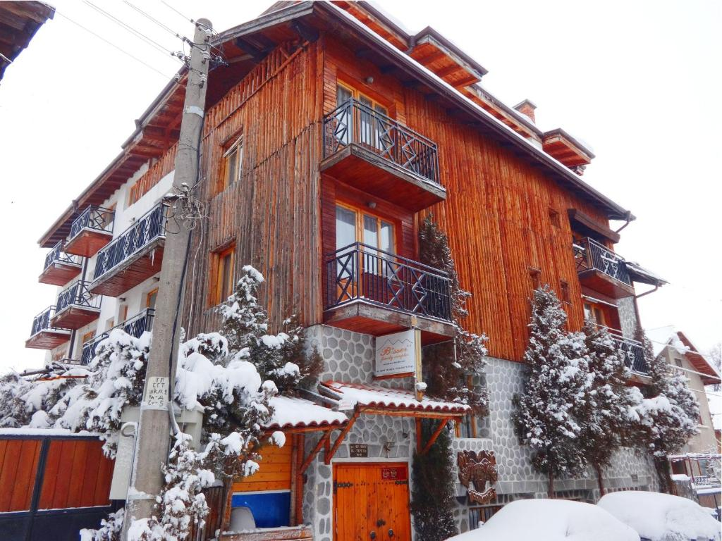 Family Hotel Bisser during the winter