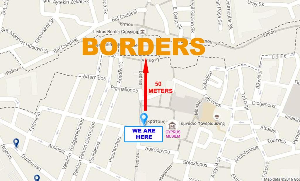 Ledras City Center Nicosia Cyprus Deals From For - nicosia map