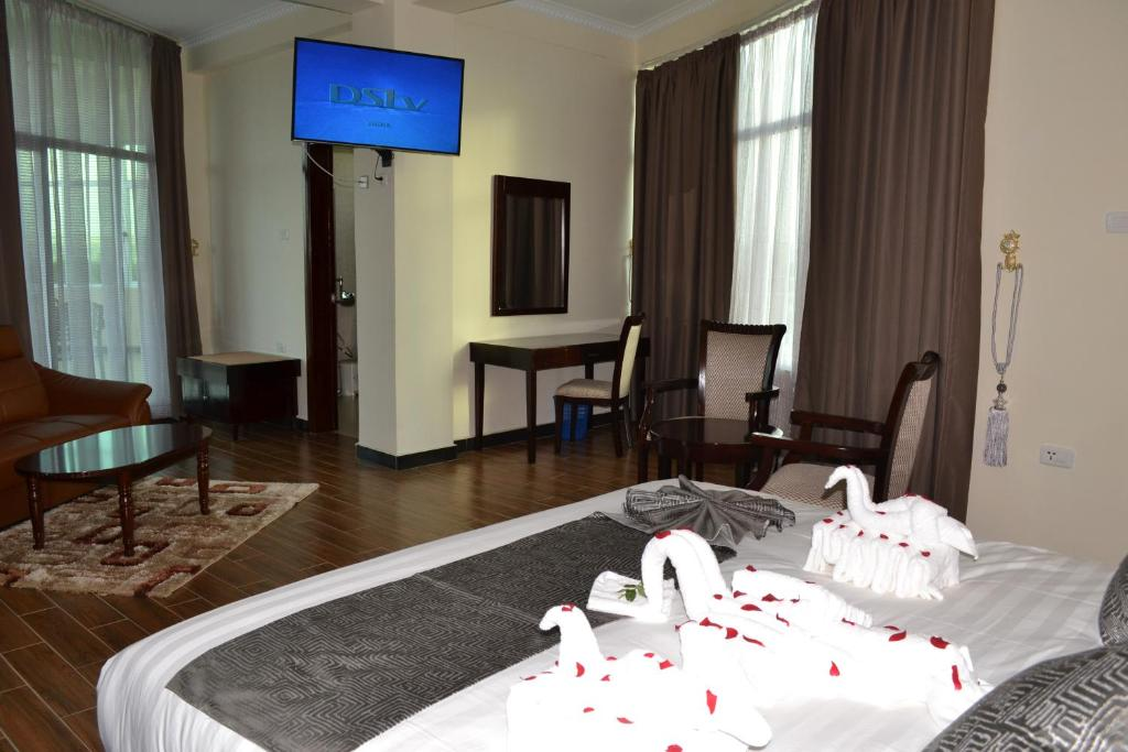 A television and/or entertainment center at Delano Hotel, Bahir Dar