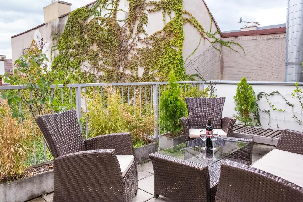 A balcony or terrace at Vienna-Design-Apartments