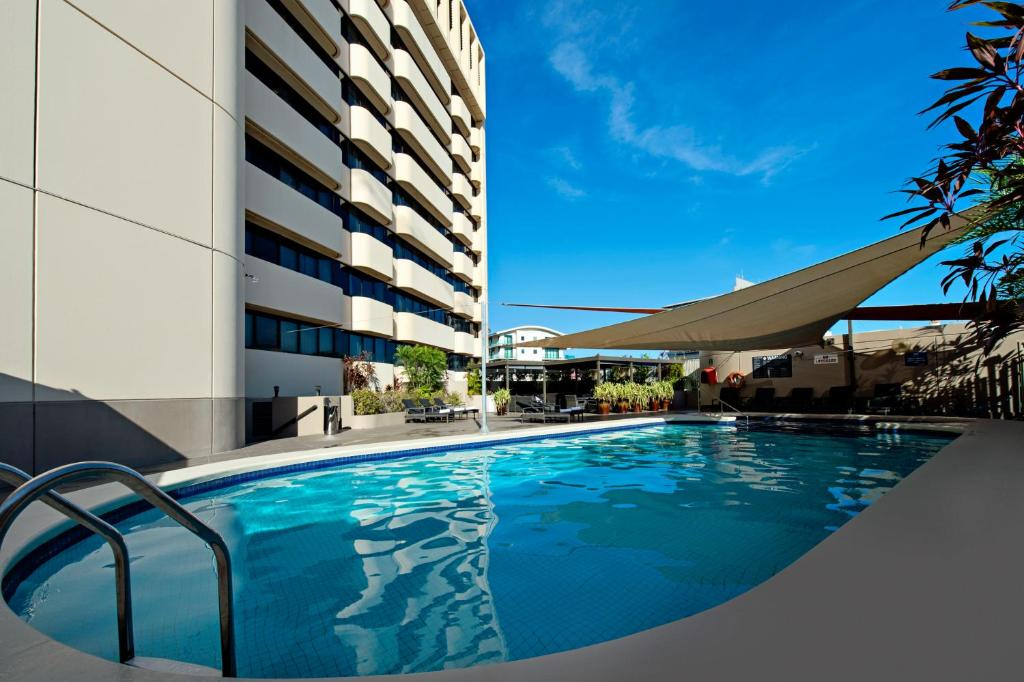 The swimming pool at or near Hilton Darwin