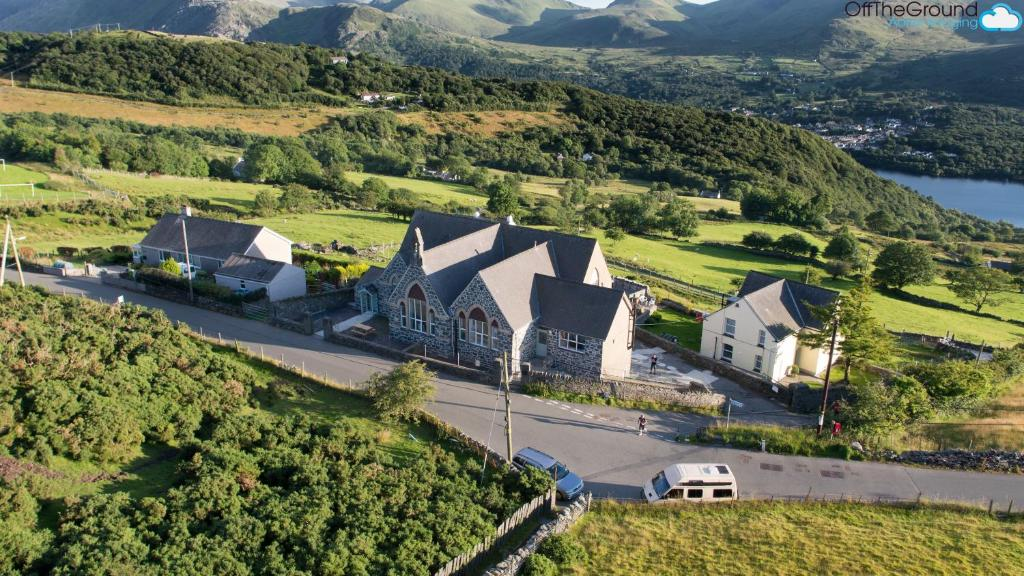A bird's-eye view of Lodge Dinorwig