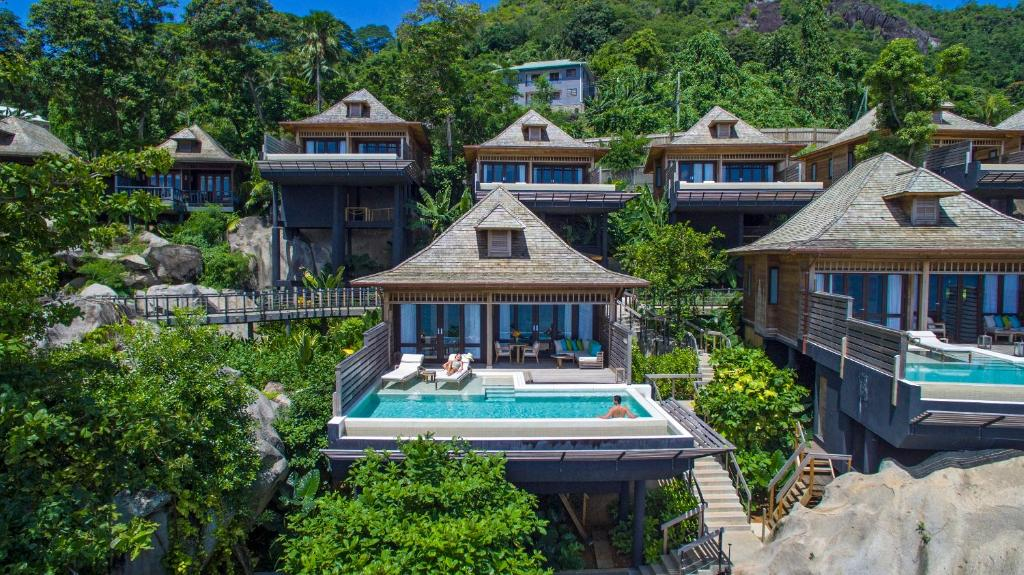 A bird's-eye view of Hilton Seychelles Northolme Resort & Spa
