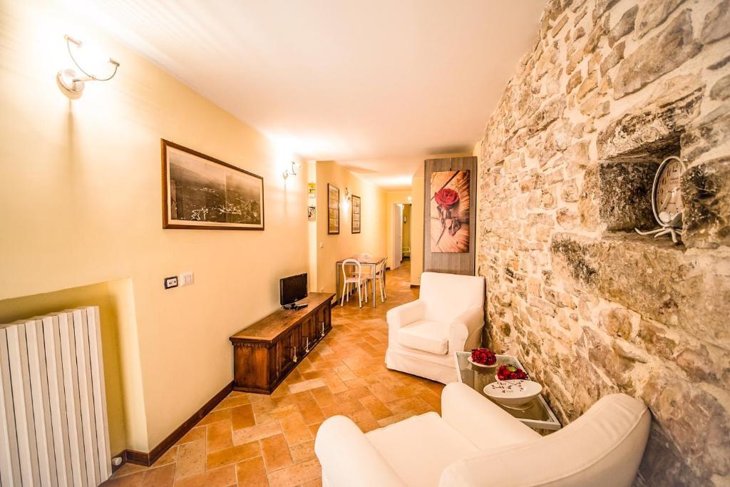 Atpūtas zona naktsmītnē Appartamento I Fraticelli
