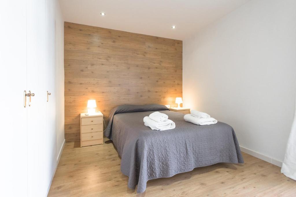 바르셀로나 어번 아파트 객실 침대