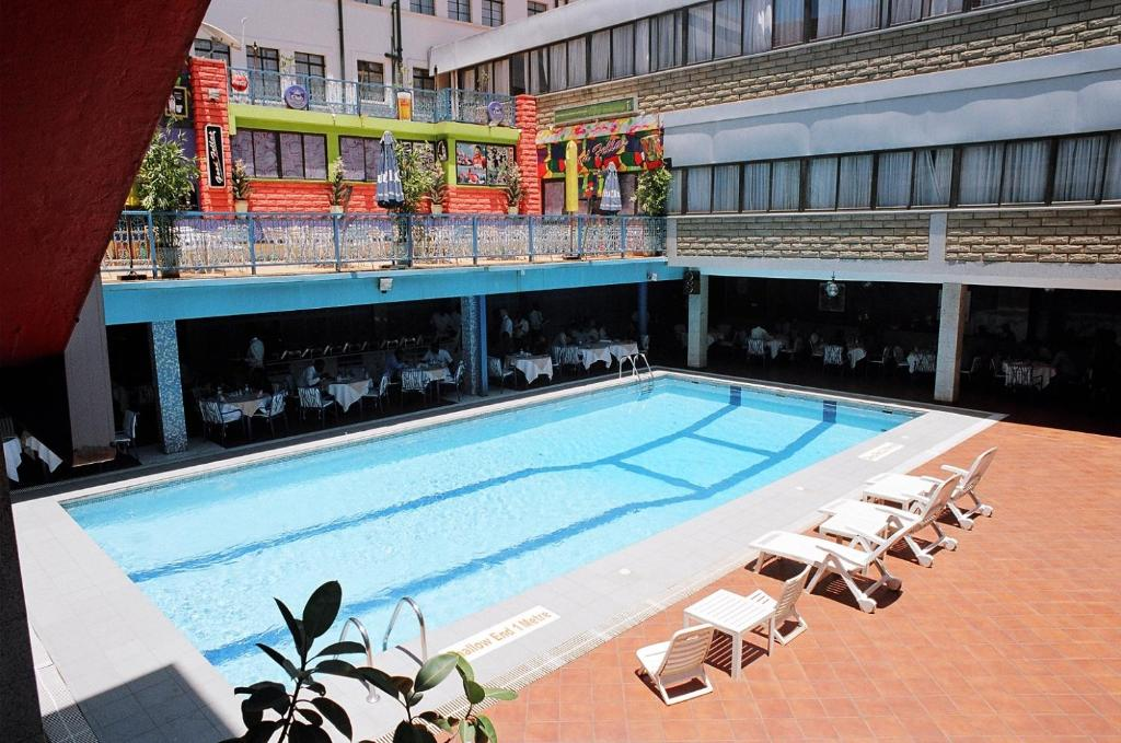 The swimming pool at or near Grand Imperial Hotel