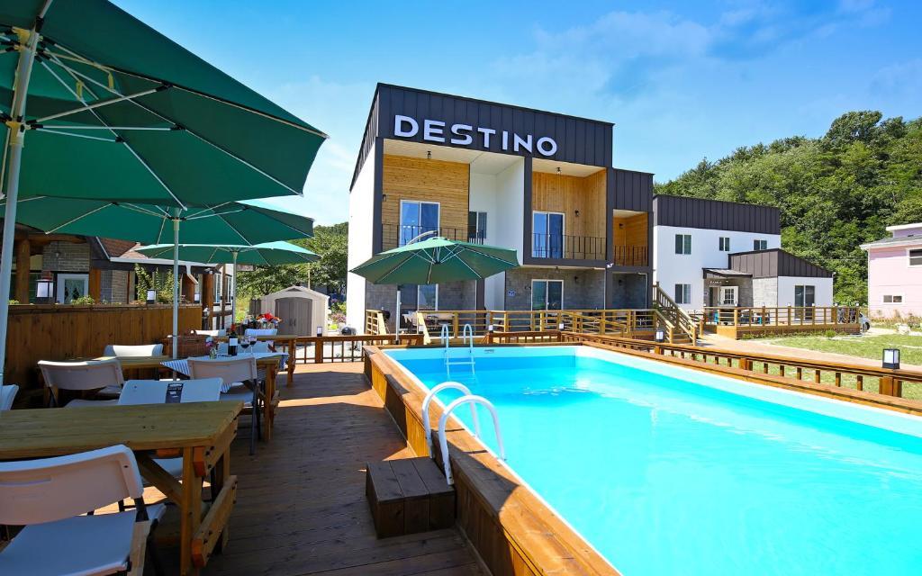 The swimming pool at or close to Destino Pension Gyeongju