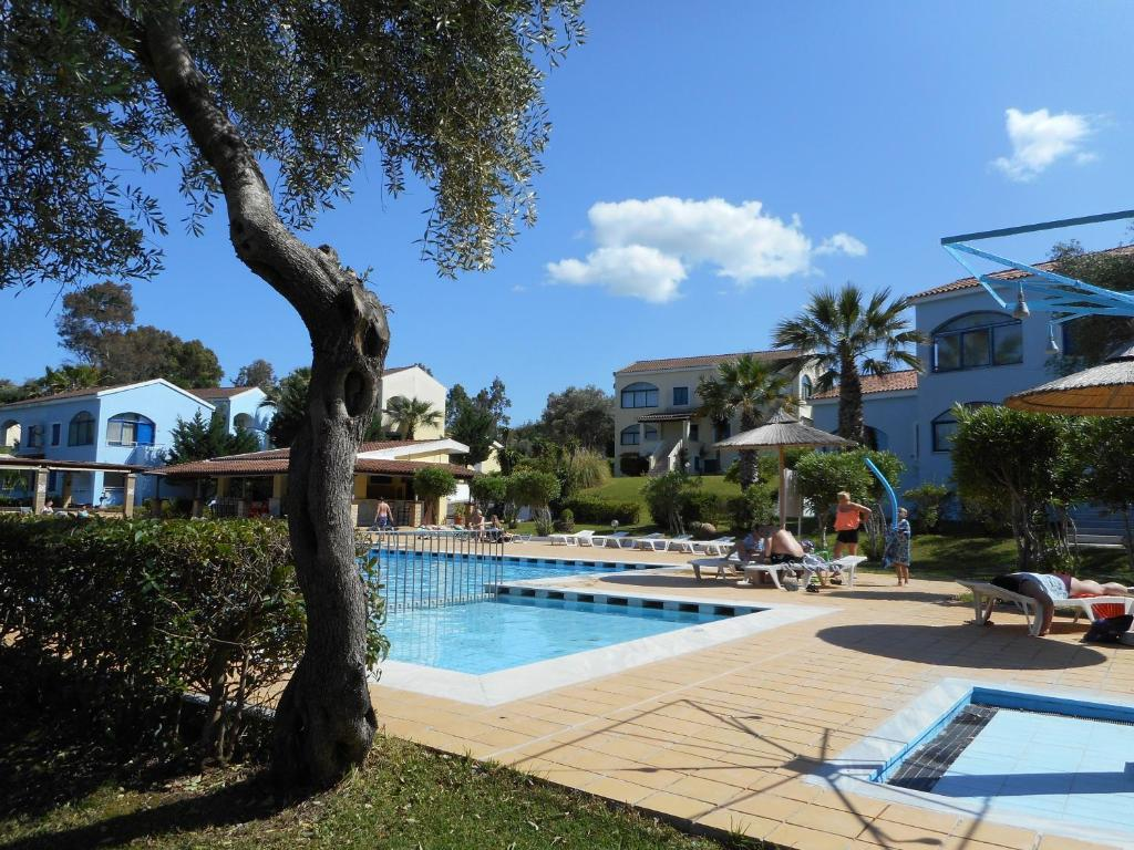 Villa Poulades Sea Govino Bay The Building In Which Apartment Is Located