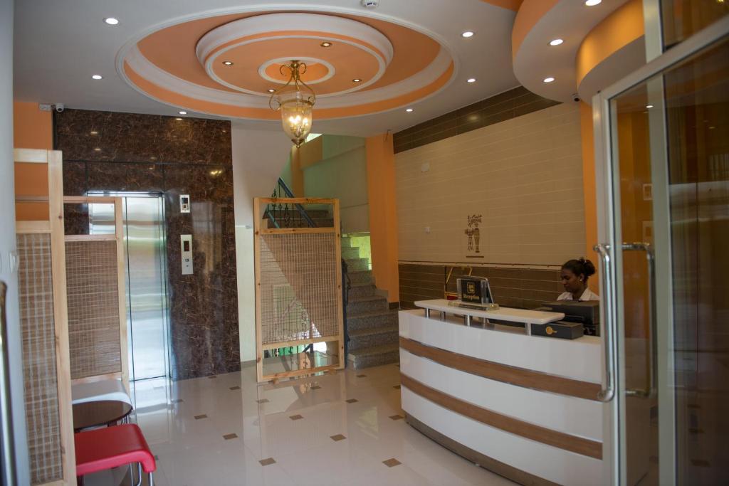 The lobby or reception area at C Fun Addis Hotel