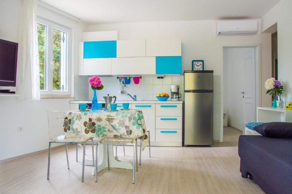 A kitchen or kitchenette at Apartments Punta by Sea