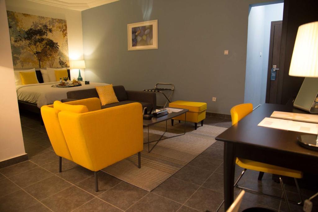 Lounge oder Bar in der Unterkunft Hôtel Semiramis