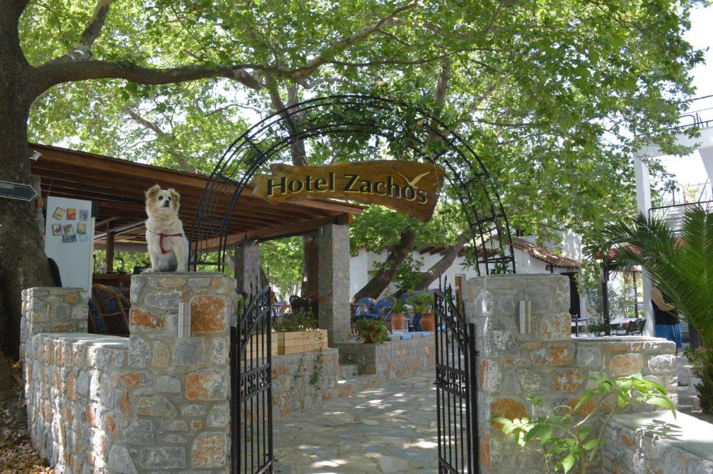The facade or entrance of Hotel Zachos