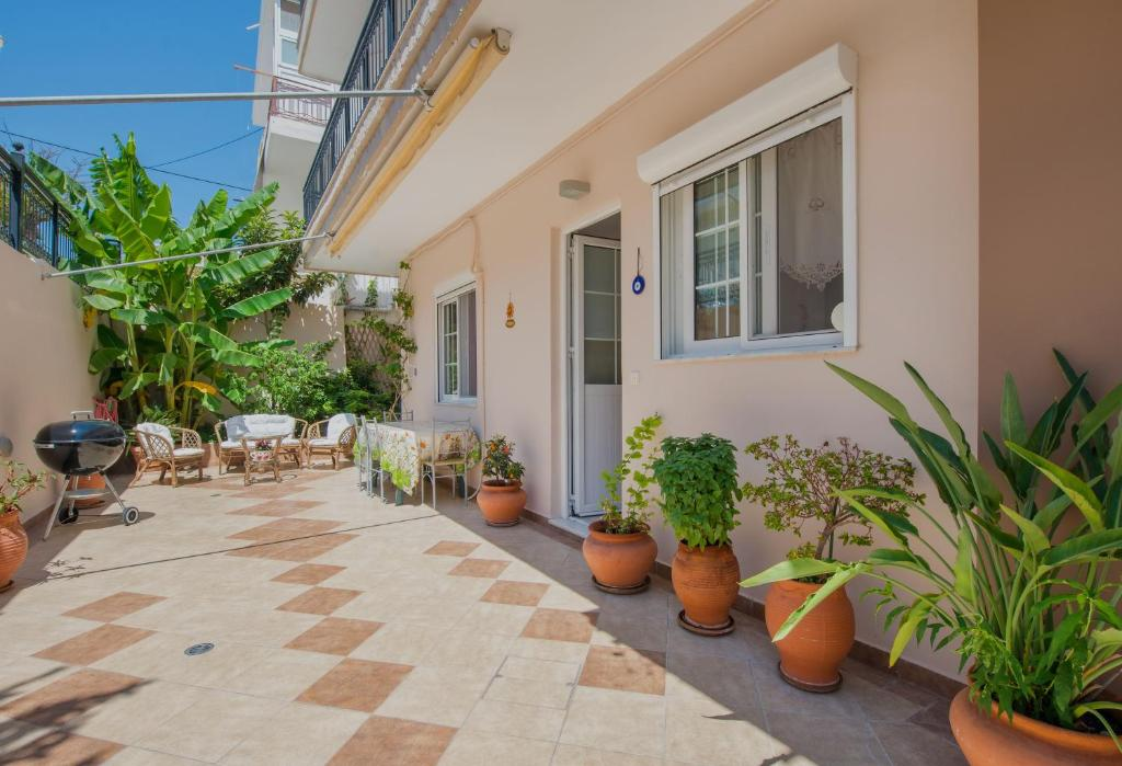 A porch or other outdoor area at Konstantinos Apartment