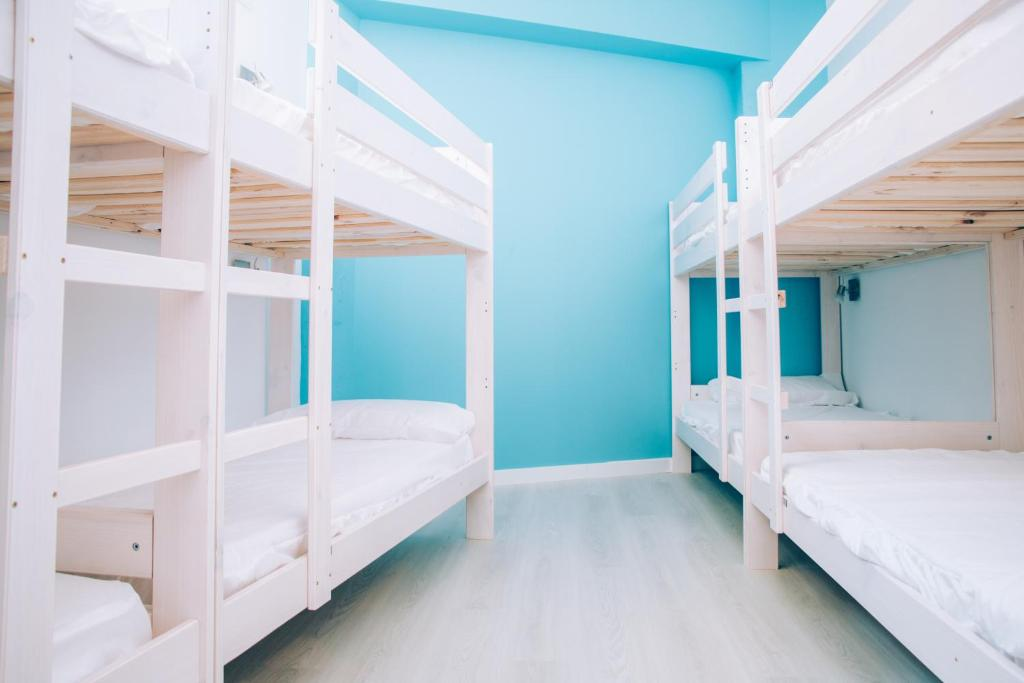 A bunk bed or bunk beds in a room at Palma Port Hostel - Albergue Juvenil
