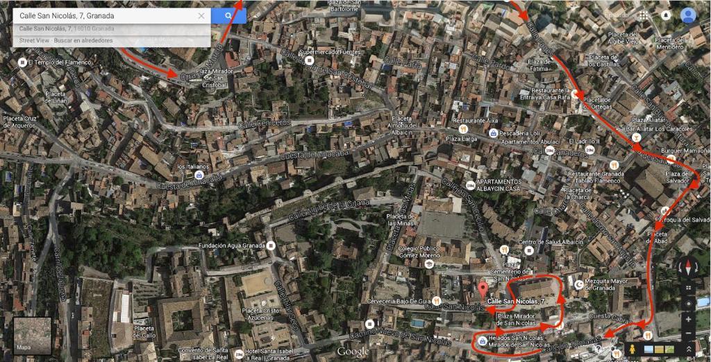 Apartment Albayzin, View to Alhambra
