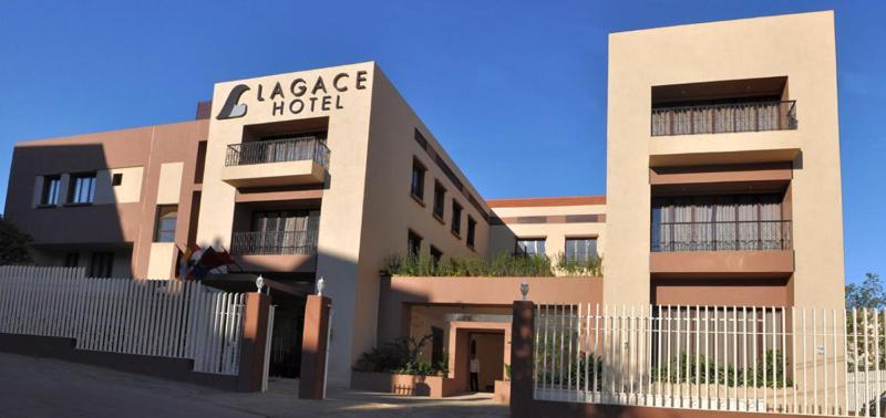 The facade or entrance of Lagace Hotel