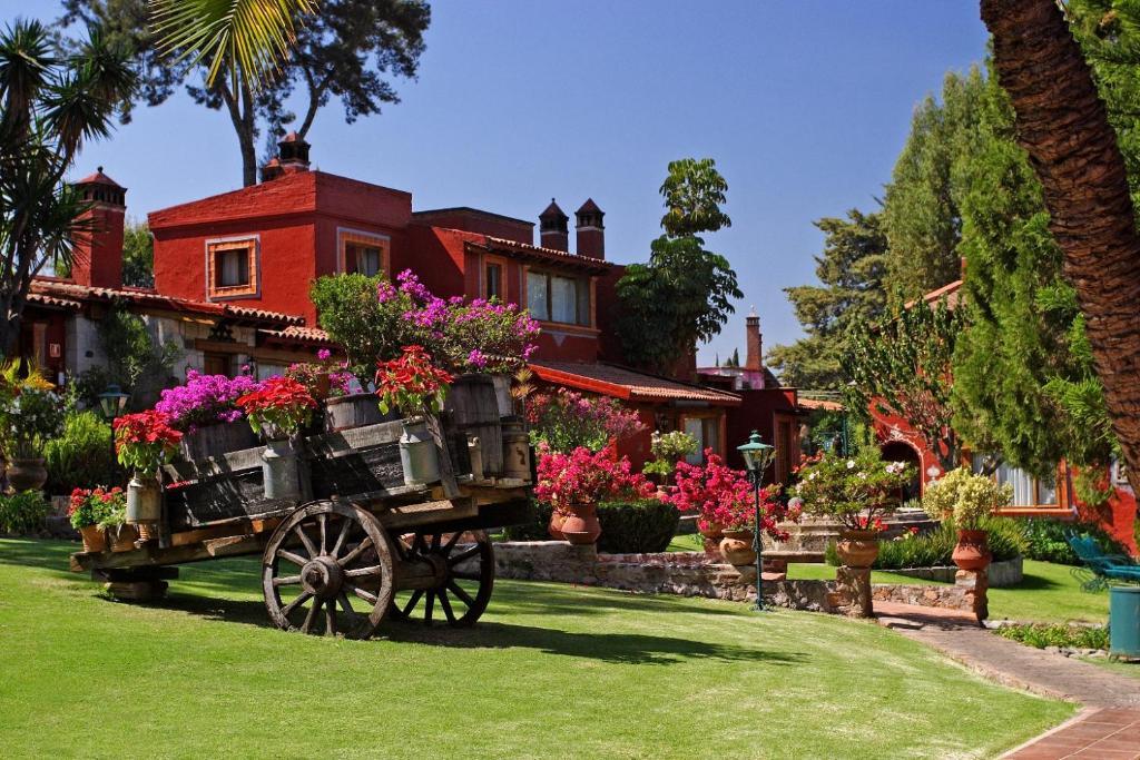 A garden outside Villa San Jose Hotel & Suites