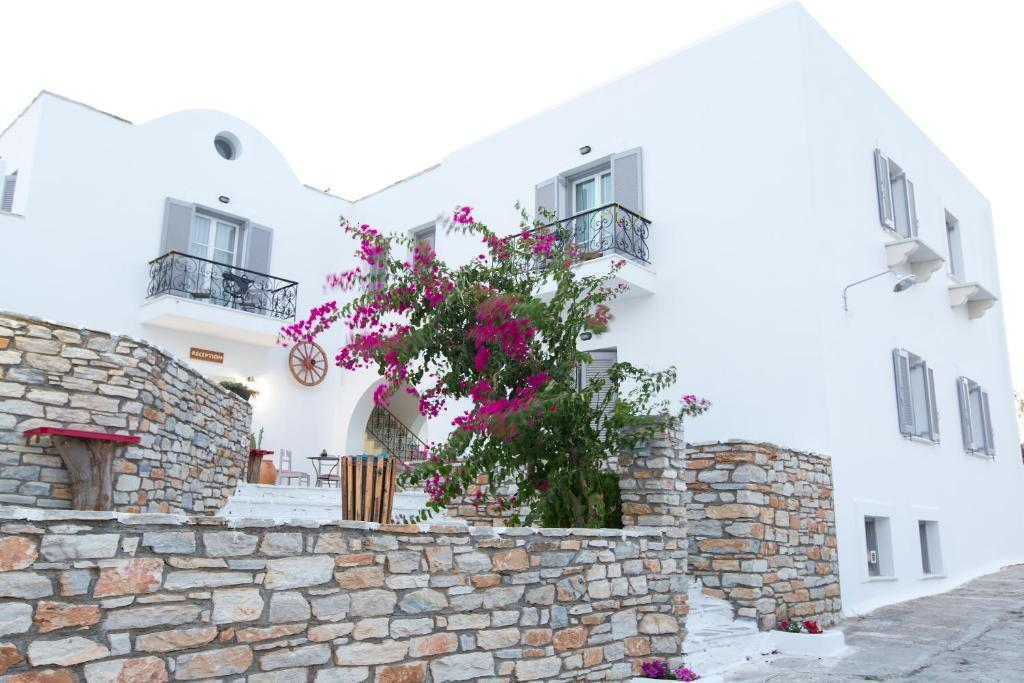 A porch or other outdoor area at Mylos Hotel