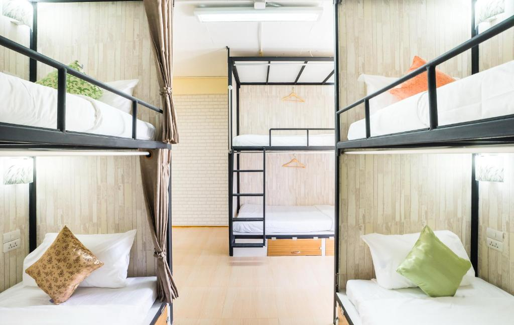 A bunk bed or bunk beds in a room at Hostel At Thonglor