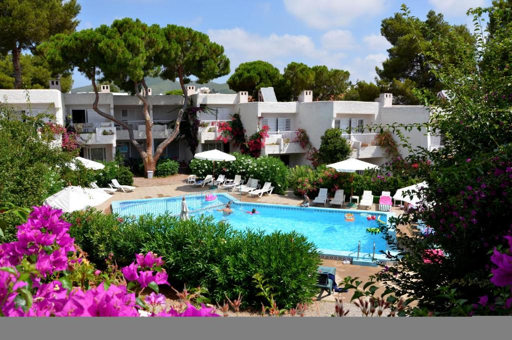 A view of the pool at Atlas Apartments Ibiza or nearby