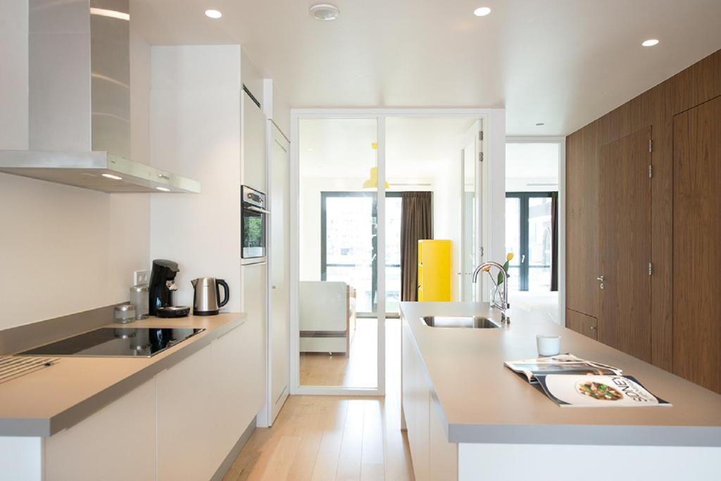 A kitchen or kitchenette at Amstel Apartment