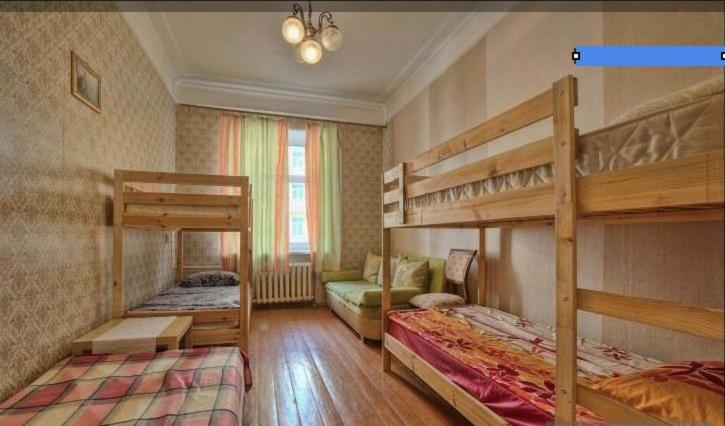 A bunk bed or bunk beds in a room at Bulgaru Hostel