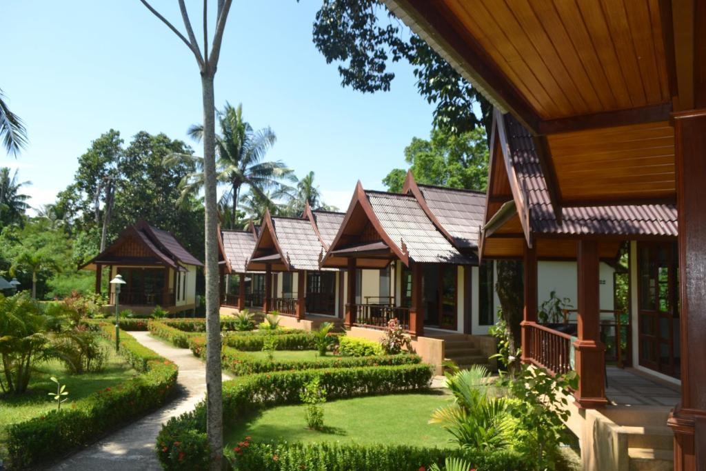 A garden outside Rasa Sayang Resort