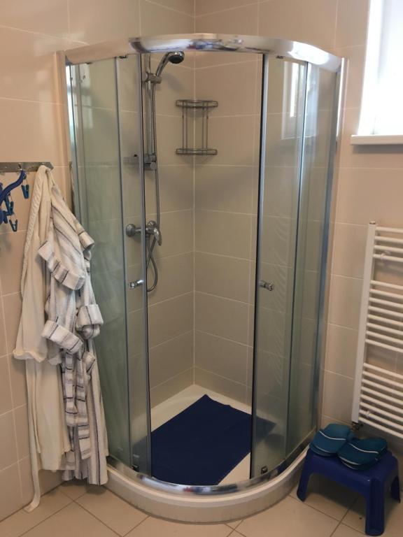 Koupelna v ubytování Apartmany Dvory