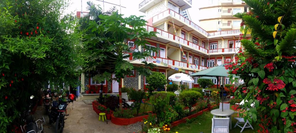 A porch or other outdoor area at Hotel Angel