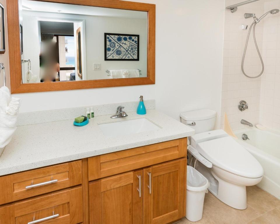 Bathroom Sinks Honolulu apartment suite 2312 at waikiki, honolulu, hi - booking