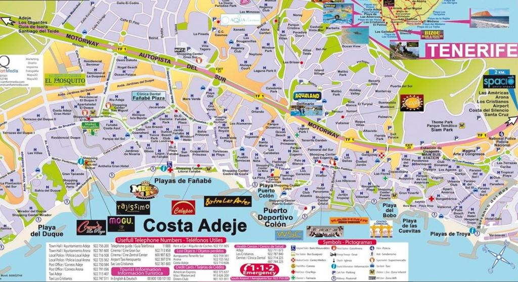 Costa Adeje Map Mare Verde   JOY, Adeje – Updated 2019 Prices