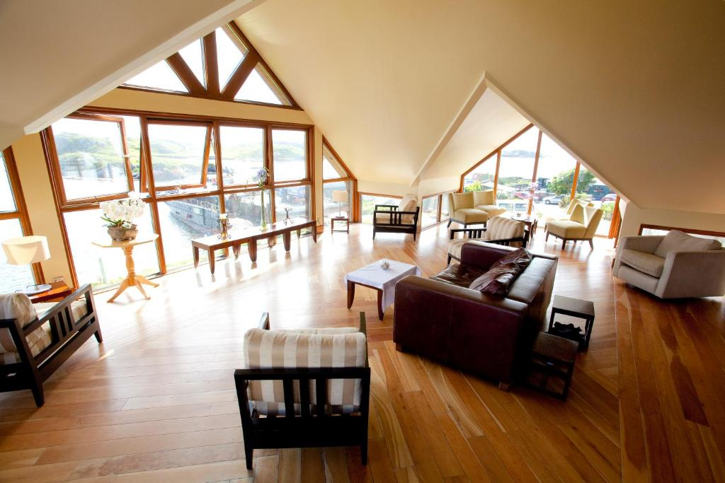 A seating area at Inishbofin House Hotel