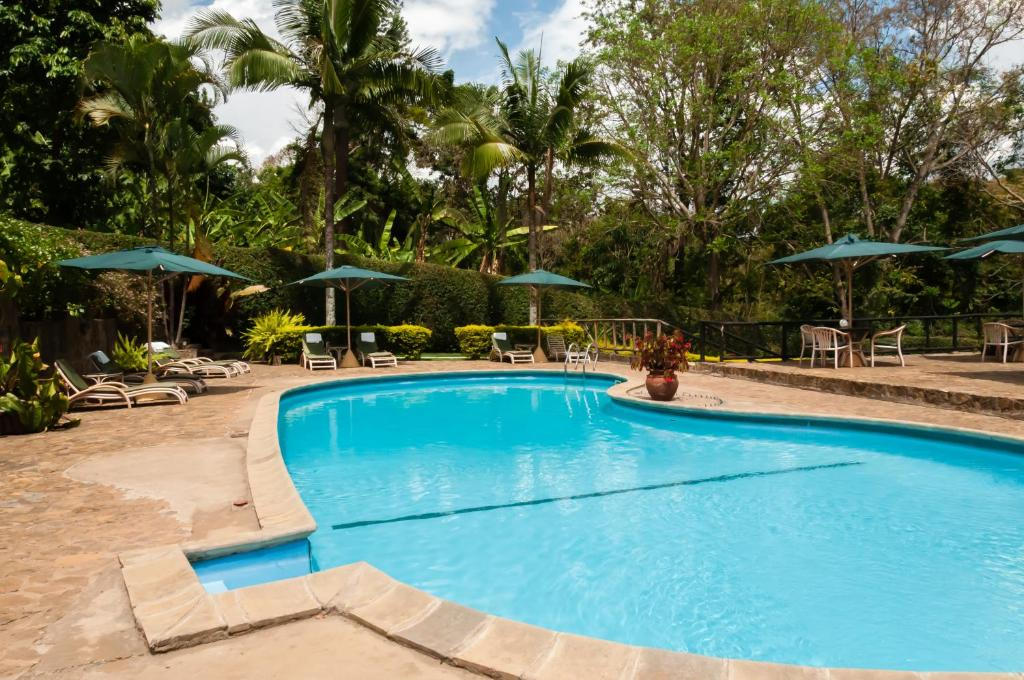The swimming pool at or near Aishi Machame