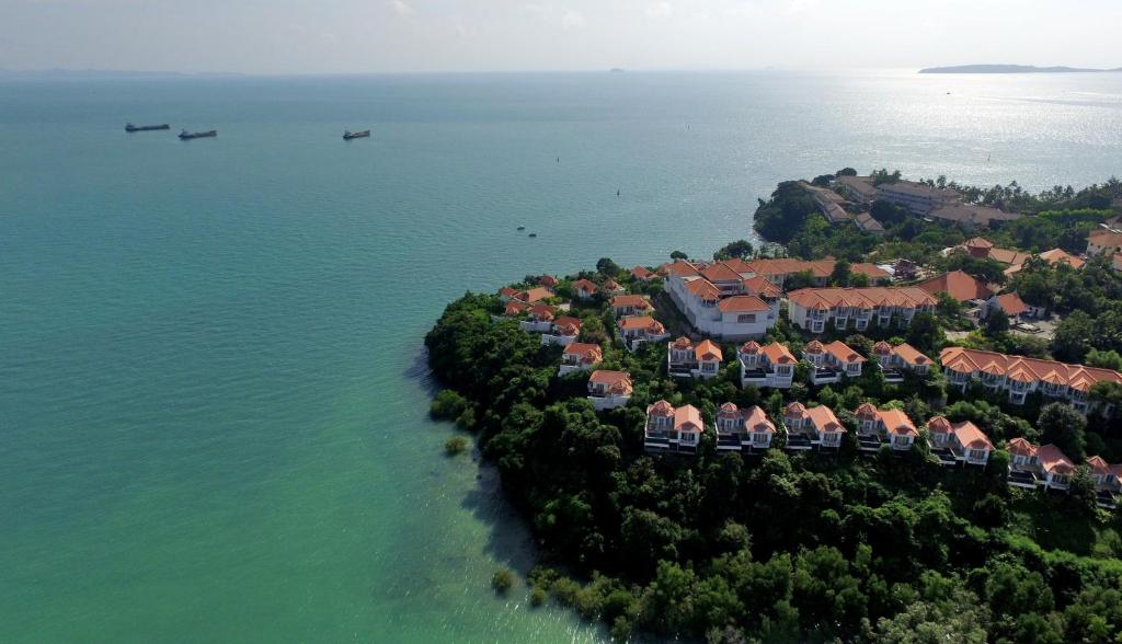 A bird's-eye view of Amatara Wellness Resort