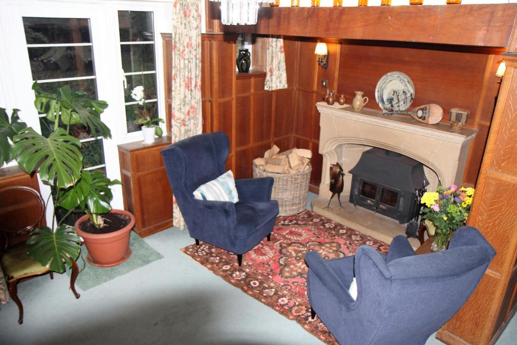 A seating area at Holton Mill Farmhouse