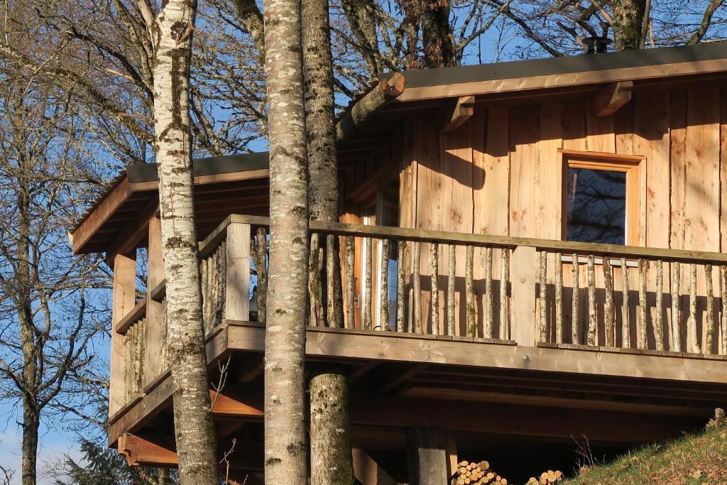 cabane dans les arbres auvergne rhone alpes