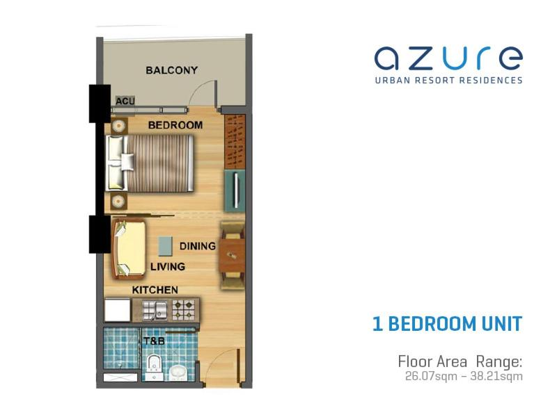 Apartment beach get away at azure manila philippines for Apartment floor plan philippines