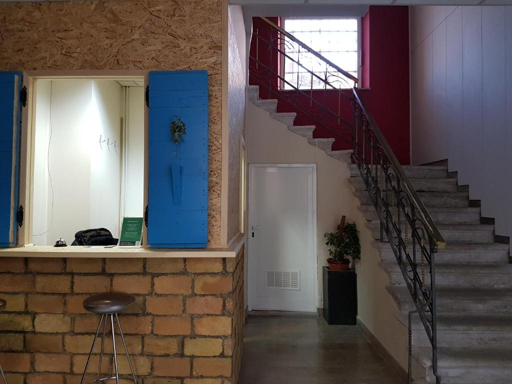 The lobby or reception area at Hostel Histria Koper