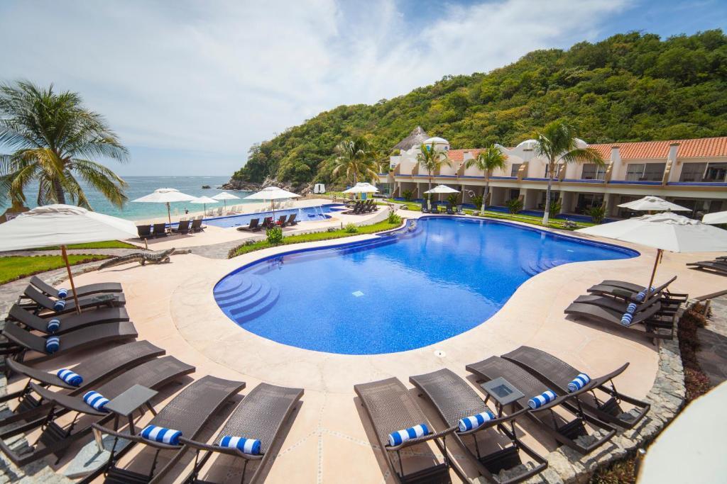 Vista de la piscina de Quinta Bella Huatulco o alrededores