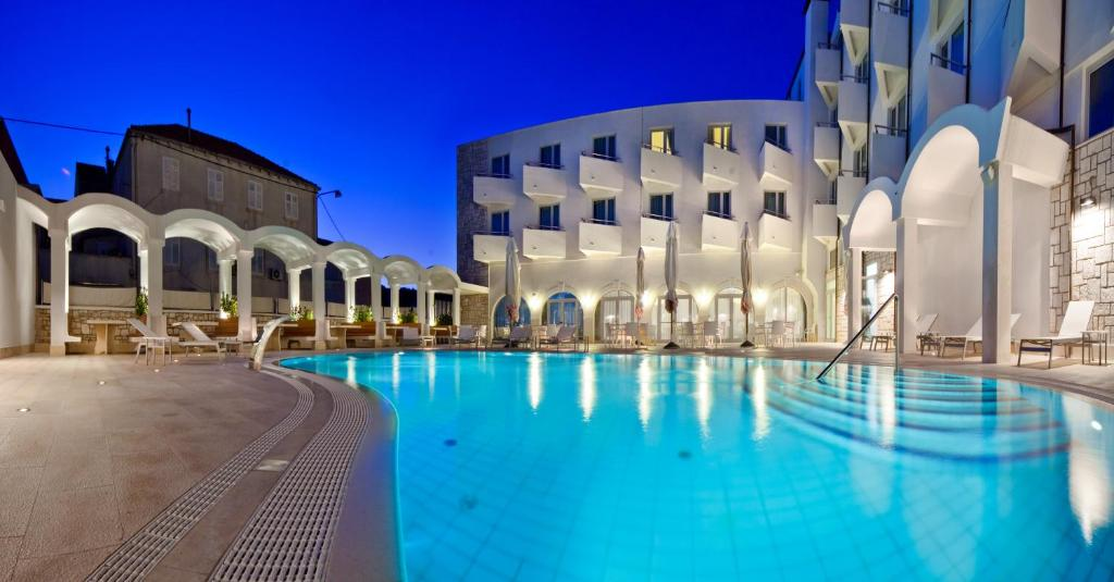 The swimming pool at or near Hotel Korkyra