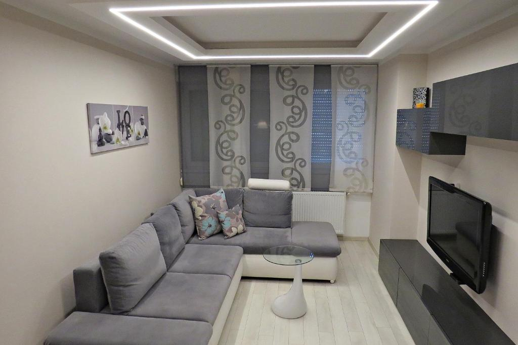 Living Room Zagreb apartment fifty shades of greay, zagreb, croatia - booking