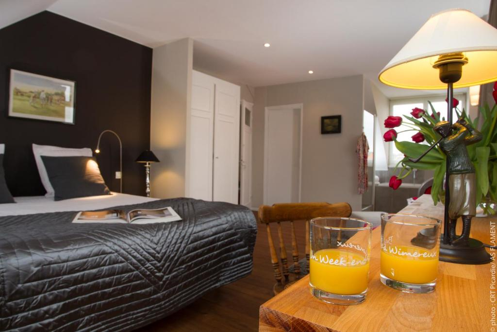 Un ou plusieurs lits dans un hébergement de l'établissement Villa du Bonheur, chambres d'hôtes