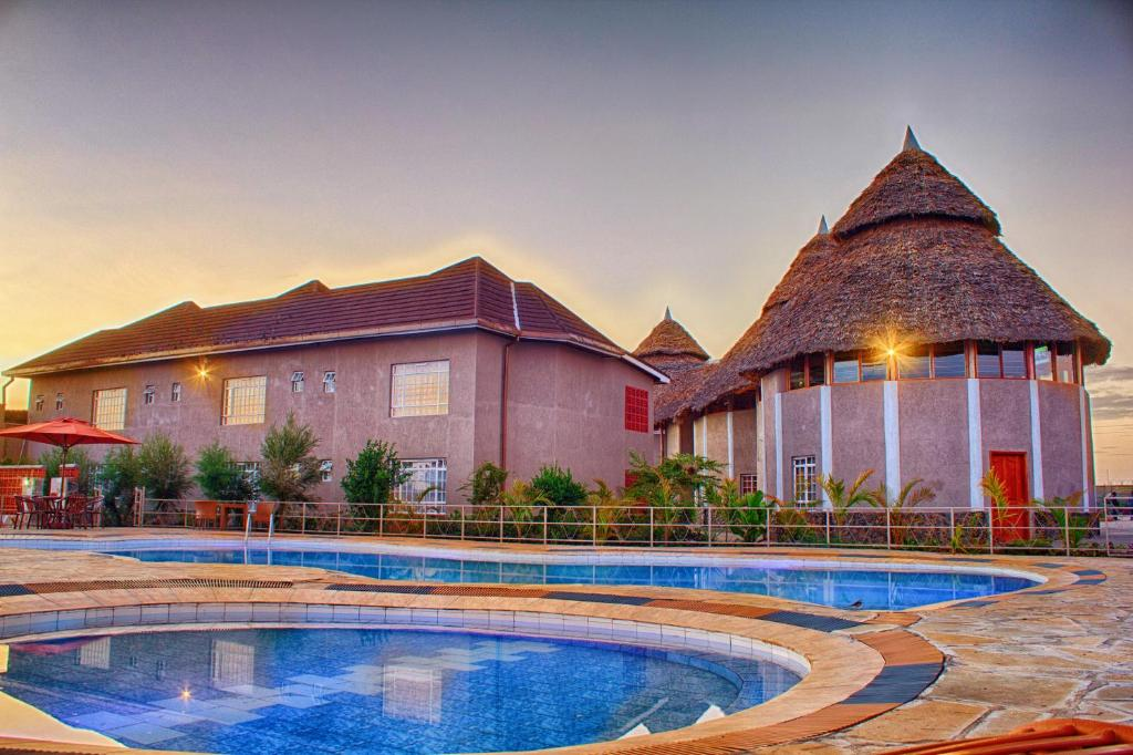 finest selection 7b3fc 30656 The building where the resort is located