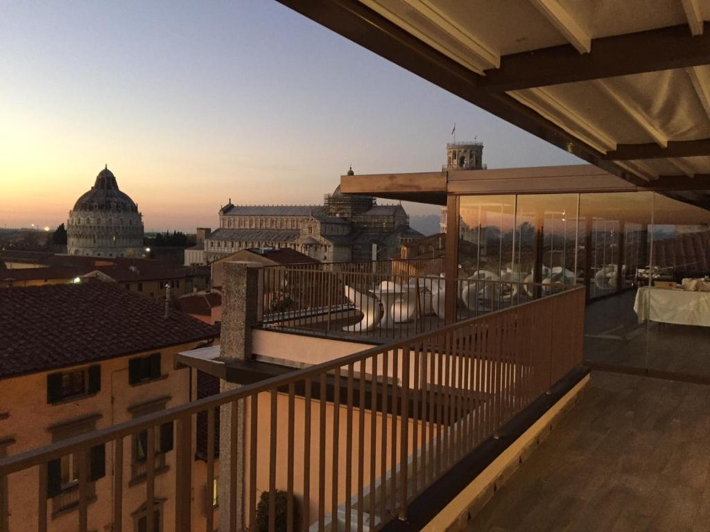 Balkon lub taras w obiekcie Grand Hotel Duomo