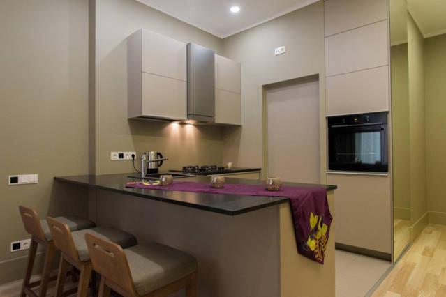 Virtuve vai virtuves aprīkojums naktsmītnē The Dome Apartment