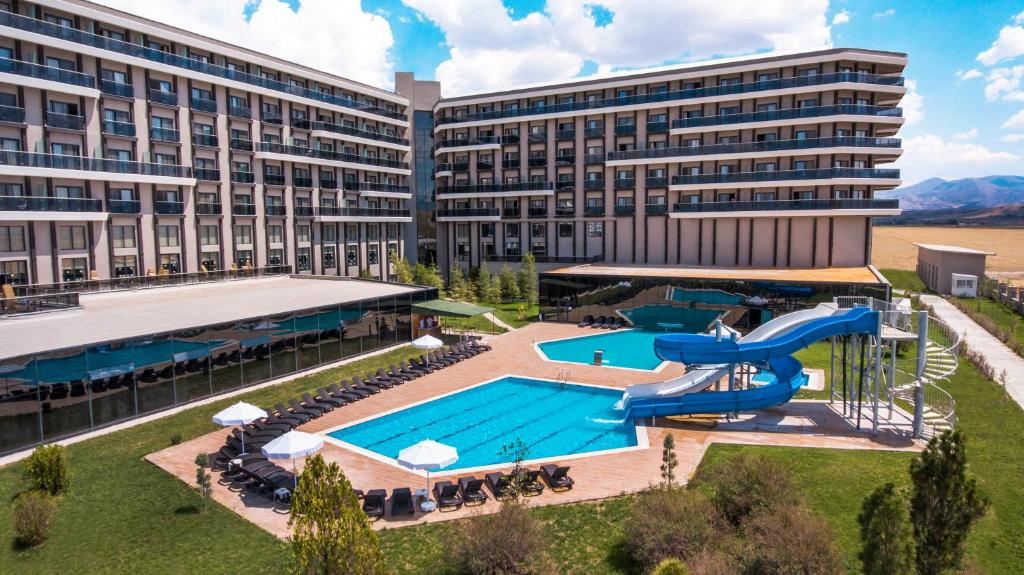 A view of the pool at May Thermal Resort Spa Hotel or nearby