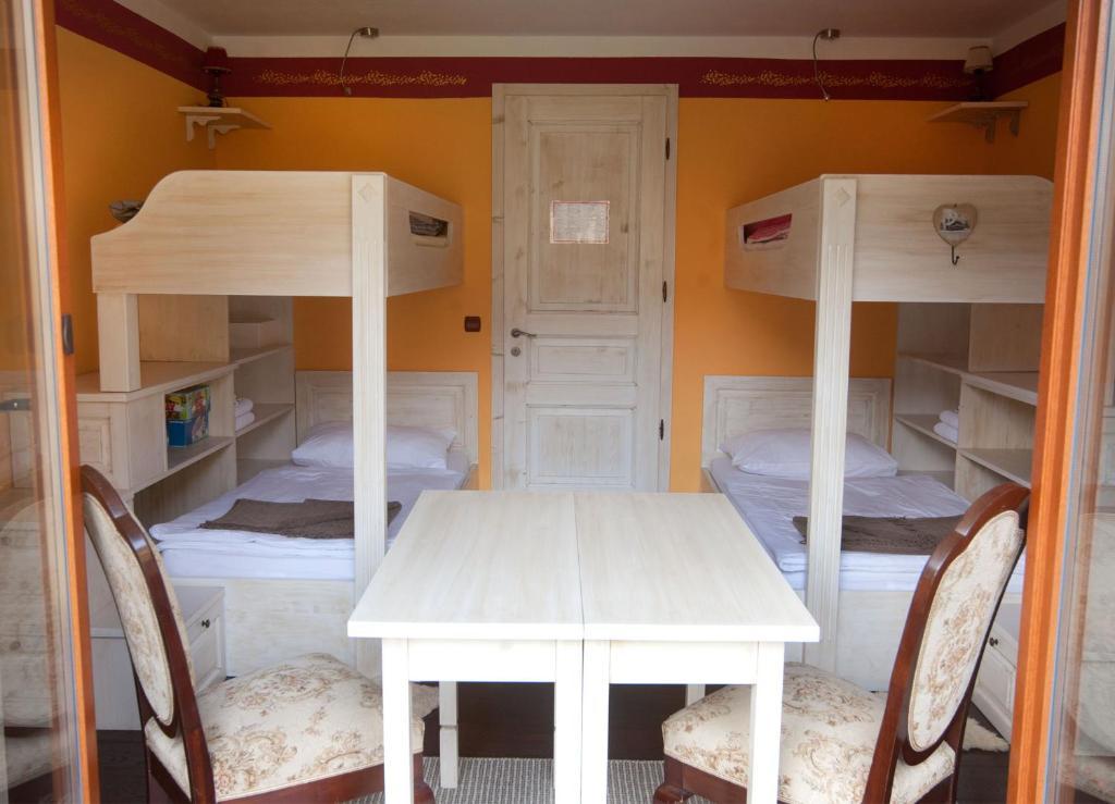 Ein Etagenbett oder Etagenbetten in einem Zimmer der Unterkunft Turistična kmetija Weiss
