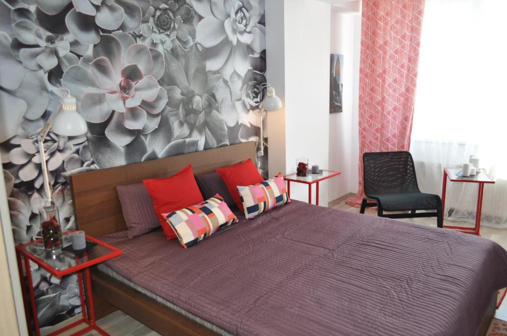 A bed or beds in a room at Apartment Matrix Summerland