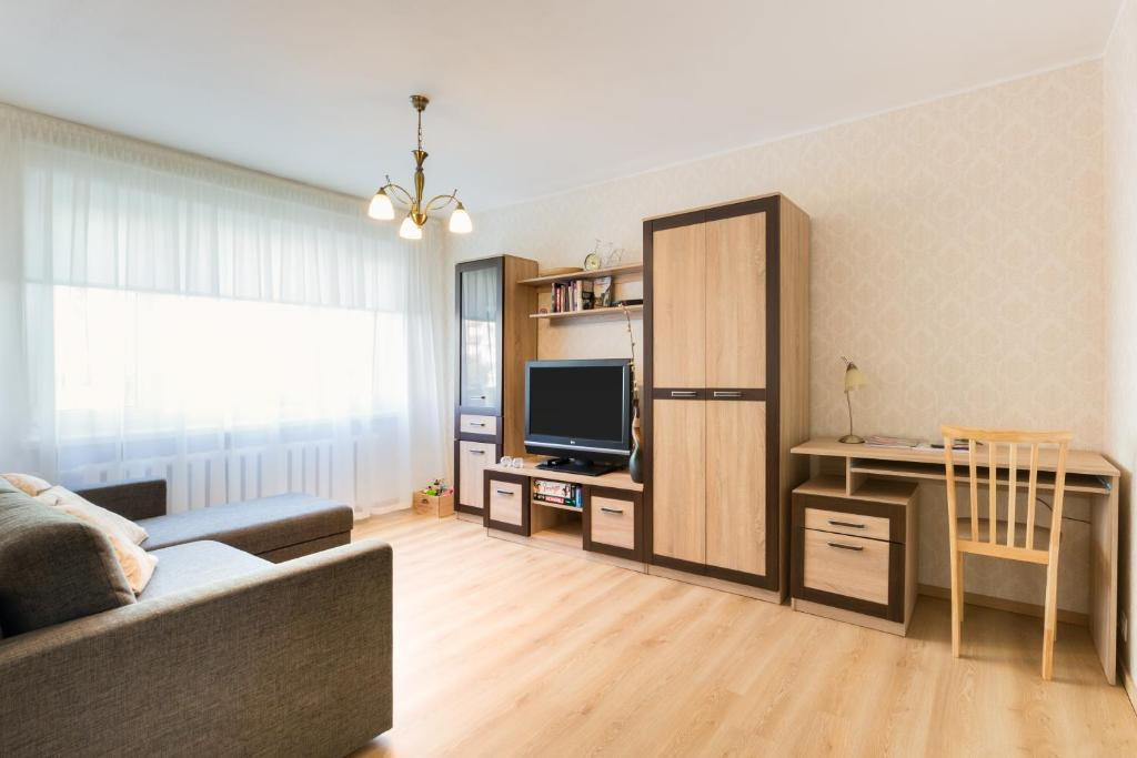 Televiisor ja/või meelelahutuskeskus majutusasutuses Tammsaare apartment